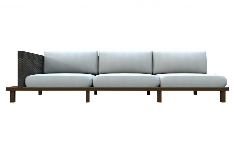 Bellona three seater sectional sofa