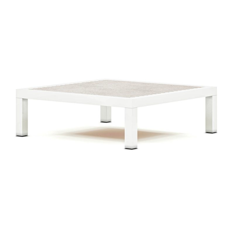 Origin high arm timber square low coffee table