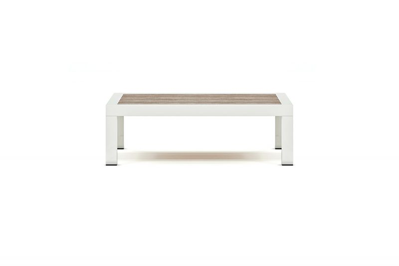 Origin low arm square timber low coffee table