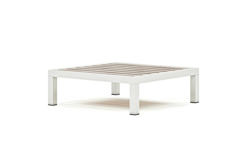 Origin low arm timber and aluminium low coffee table