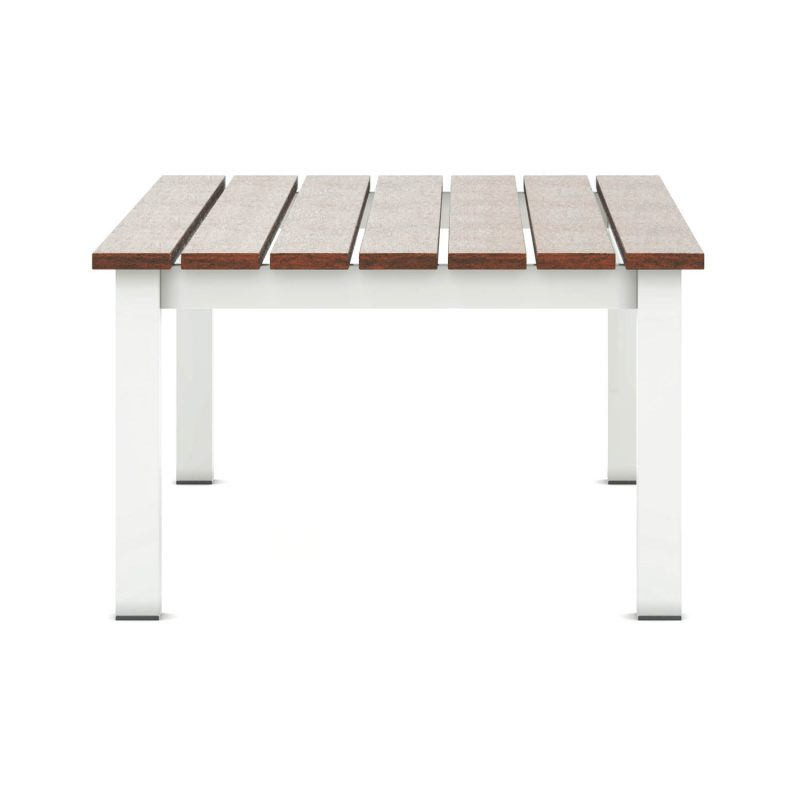Origin low arm square timber coffee table