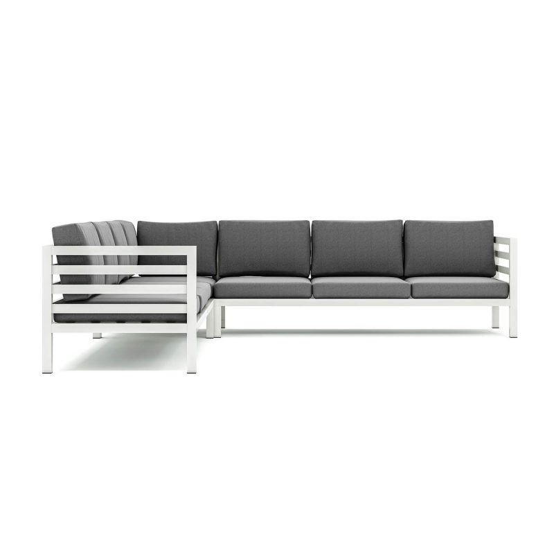 Origin high arm aluminium seven seater sectional sofa