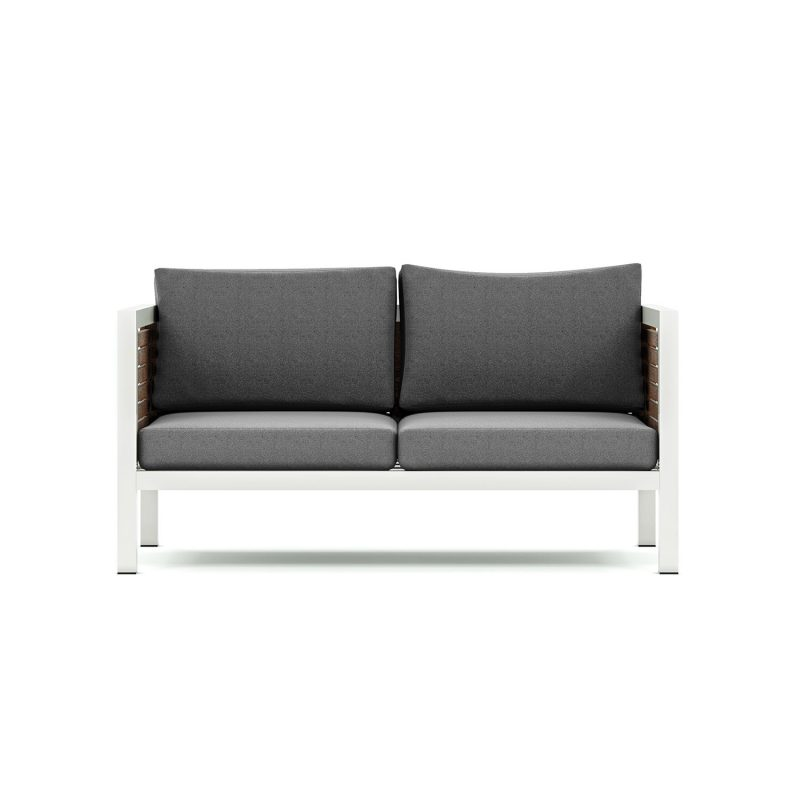 Origin high arm 38mm slatted timber two seater sofa