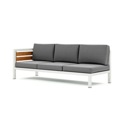 Origin high arm timber three seater sectional sofa