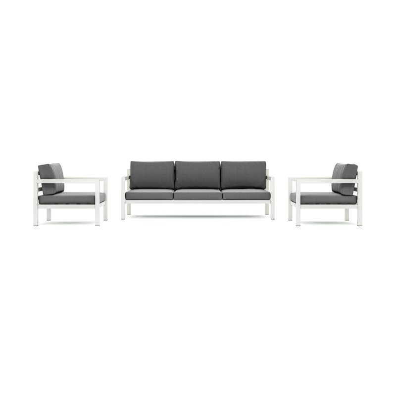Origin low arm aluminium five seater patio suite