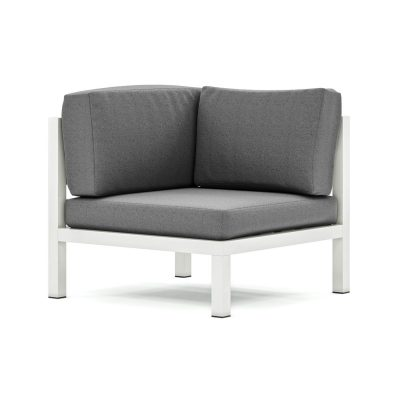 Origin low arm aluminium corner wedge sofa