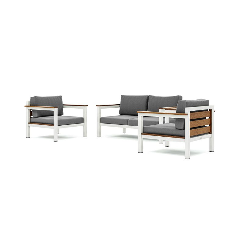 Origin low arm timber four seater patio suite