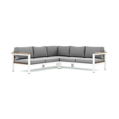 Origin low arm timber five seater sectional sofa