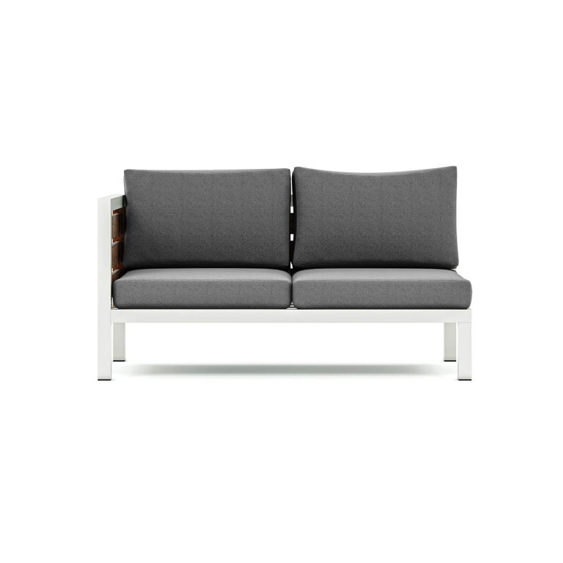 Origin high arm timber two seater sectional outdoor sofa