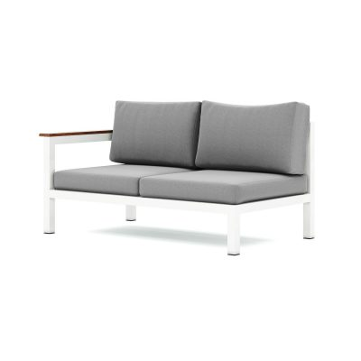 Origin low arm timber two seater sectional sofa