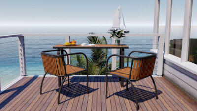 Axon 2 Seater Table And Chair Set