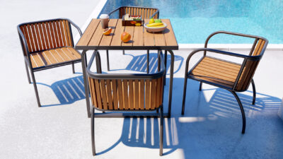 Axon 4 Seater Table And Chair Set